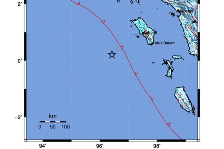 Terjadi genpabumi pada hari Selasa (20/4/2021), Pukul 06:58:20 WIB, bermagnitudo 6,4 SR yang terjadi di laut,, pada kedalaman 21 Km, berpusat pada koordinat 0.21 LU dan 96.42 BT BT, atau tepatnya berlokasi di laut pada jarak 142 km Barat Daya Nias Barat, Sumatera Utara, pada kedalaman 10 km, serta gempabumi ini dirasakan di AekGodang, Nias Barat, Gunungsitoli, Padang Sidempuan, Pariaman, Padang Pariaman, Pakpak Bharat, Aceh Singkil pada skala intensitas II MMI.