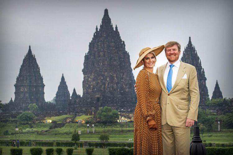 Raja Belanda Willem Alexander dan Ratu Maxima Zorregueta Cerruti mengunjungi kawasan Candi Prambanan, Rabu (11/3/2020).