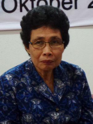 Hakim Tinggi Pengadilan Tinggi Medan Albertina Ho dalam diskusi di Universitas Padjajaran, Bandung, Rabu (25/10/2017).
