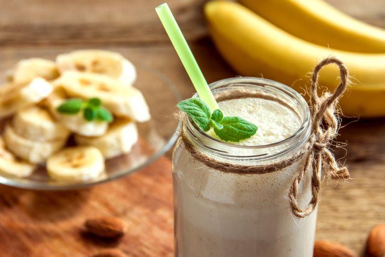 Ilustrasi smoothie pisang