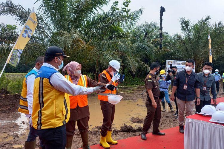 Instalasi Pengolahan Air (IPA) Sistem Penyediaan Air Minum (SPAM) di wilayah Kawasan Strategis Pariwisata Nasional Ujung Kulon-Tanjung Lesung, Senin (13/9/2021)