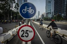 Jalur Sepeda Sudirman-Thamrin Sudah Boleh Dilintasi Pekerja yang Bersepeda