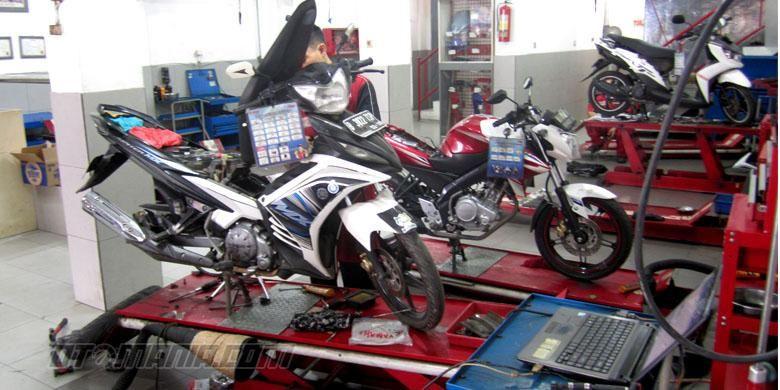 Ada 22 poin yang harus dilakukan saat servis sepeda motor di bengkel resmi Yamaha.