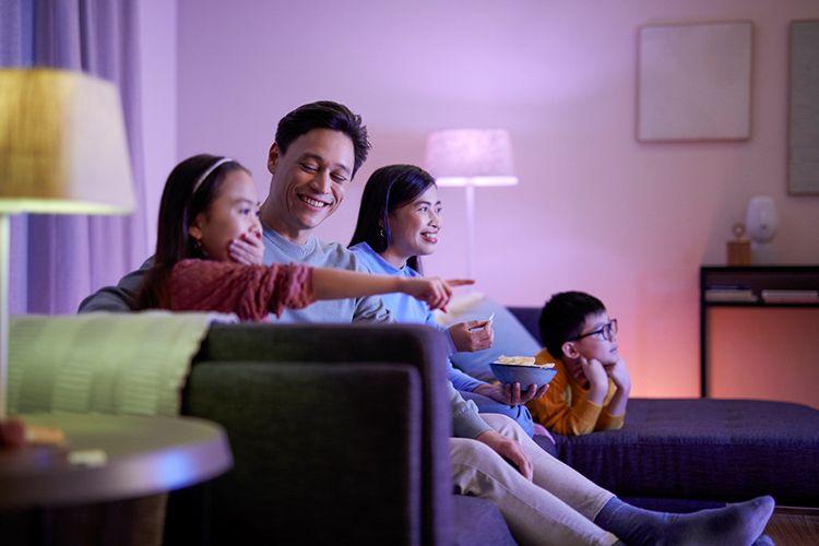 Lampu Philips Smart Wi-Fi.
