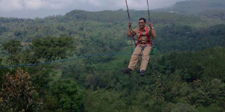 Objek wisata Ayunan Langit Watu Jaran di Desa Purwosari, Kecamatan Girimulyo, Kabupaten Kulon Progo.