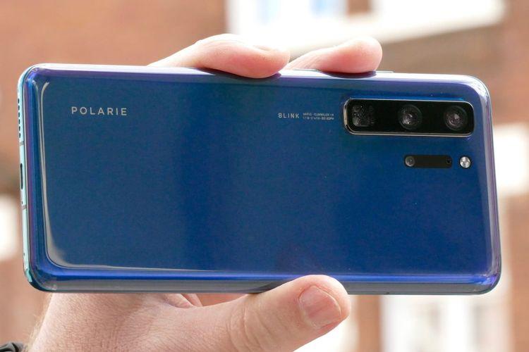 Wujud purwarupa ponsel yang diduga sebagai Huawei P40.