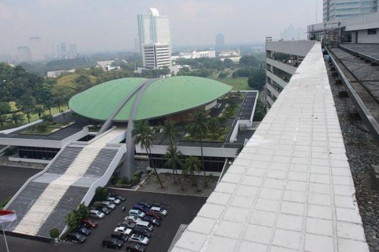 Suasana gedung DPR RI, Jakarta, Jumat (22/5/2009).