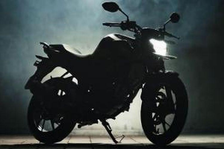 Siluet versi penyegaran Honda CB150R StreetFire 2015.