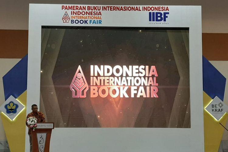 Pembukaan Indonesia International Book Fair (IIBF) 2019 di Hall A Balai Sidang Jakarta Convention Center, Jakarta, Rabu (4/9/2019).