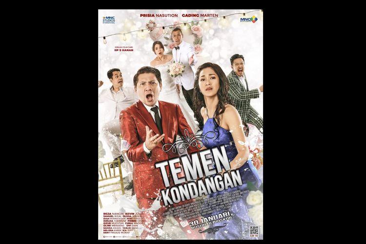 Poster film Temen Kondangan (2020) dibintangi Prisia Nasution, Gading Marten, Samuel Rizal dan lainnya.