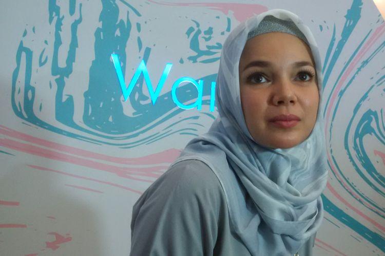 Dewi Sandra ketika menghadiri acara Wardah Day di Gandaria City, Kebayoran Lama, Jakarta Selatan, Minggu (7/10/2018).