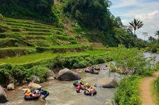 Tubing Down the River at Sindangkasih Garut Tourism Village