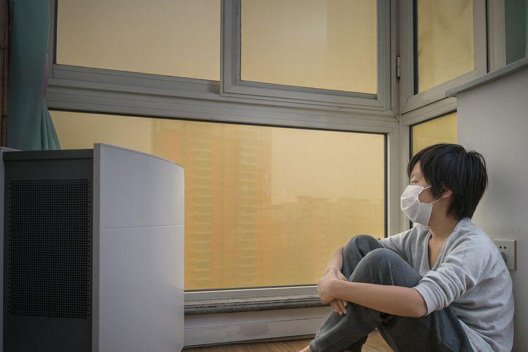 Ilustrasi polusi udara dalam ruangan