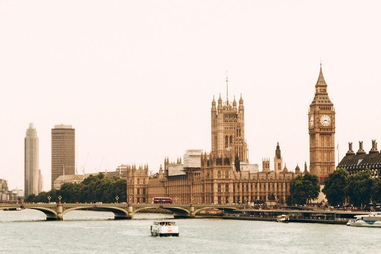 Ilustrasi kota London. Inggris
