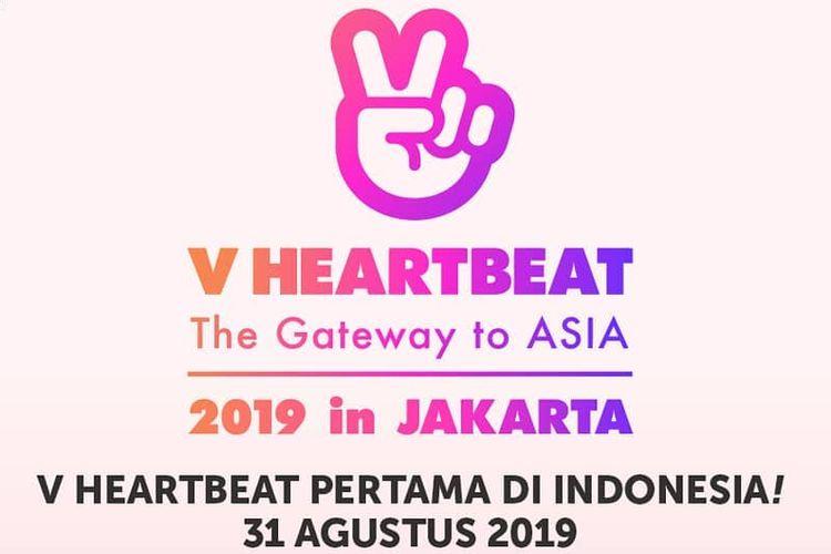 Poster konser V Heartbeat in Jakarta.