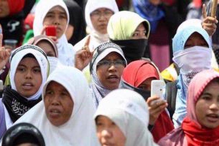 Ilustrasi massa Hizbut Tahrir Indonesia (HTI)
