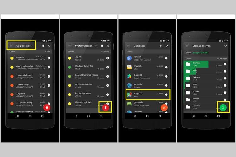 Cara menghapus file yang tersisa setelah uninstall aplikasi di Android melalui aplikasi SD Maid