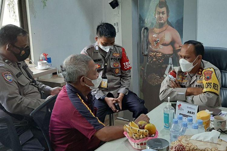 Agus Dartono saat bertemu Wakapolrestabes AKBP I.G.A Dwi Perbawa Nugraha di Mapolrestabes Semarang, Senin (27/9/2021).