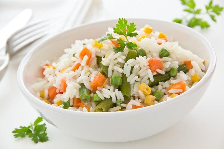 Ilustrasi nasi campur sayuran