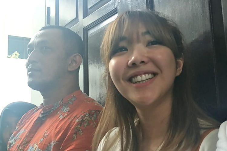 Gisella Anastasia (Gisel) menghadiri sidang putusan cerainya dengan Gading di Pengadilan Negeri Jakarta Selatan, Rabu (23/1/2019).