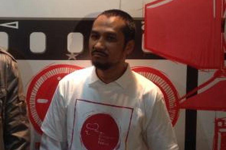 Ketua Komisi Pemberantasan Korupsi Abraham Samad saat talkshow Anti Korupsi Film Festival (ACCFEST) 2014 di GOR Bulungan, Jakarta Selatan, Rabu (27/8/2014).