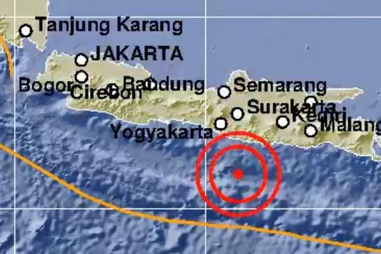Gempa 5,1 M guncang Jawa bagian selatan, Senin (22/6/2020) dini hari.