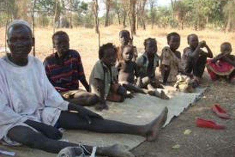 Para pengungsi di Doro, Sudan Selatan