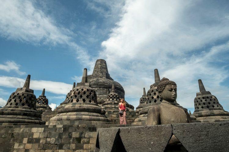 Candi Borobudur, wisata populer di Magelang, Jawa Tengah.