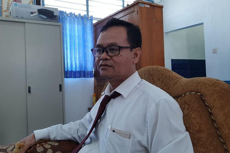 Kepala Sekolah SMK N 1 Sanden, Bantul, Slamet Raharjo yang ditemui di Kantornya Rabu (4/9/2019)