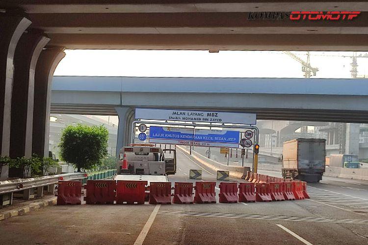 Penutupan Tol Layang Jakarta-Cikampek PPKM Darurat