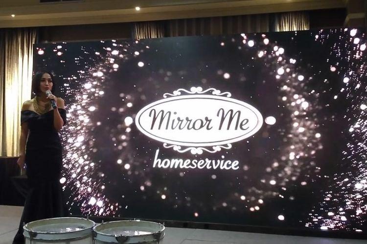 Farah Bachtiar (Founder Mirror Me Salon and Academy) dalam acara peluncuran aplikasi MirrorMe Homeservice di Jakarta, Jumat (06/03/2020).