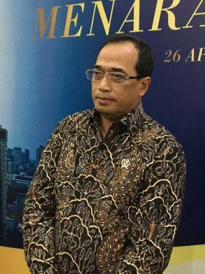 Menteri Perhubungan Budi Karya Sumadi saat acara peresmian gedung Menara Kompas, Kamis (26/4/2018).