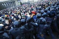 Tangkap Massal Demonstran, Penjara Rusia Sampai Penuh
