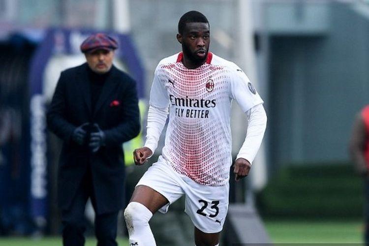 Fikayo Tomori dalam laga Bologna vs AC Milan, 30 Januari 2021.