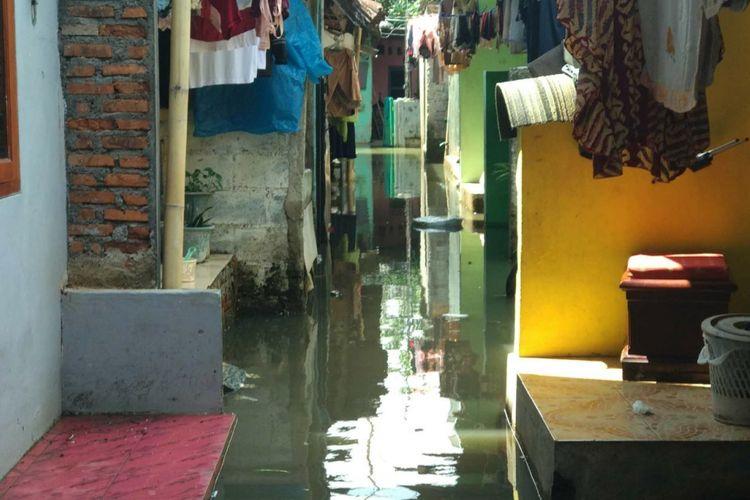 Banjir di Jatipadang, Jakarta Selatan, Rabu (22/11/2017).