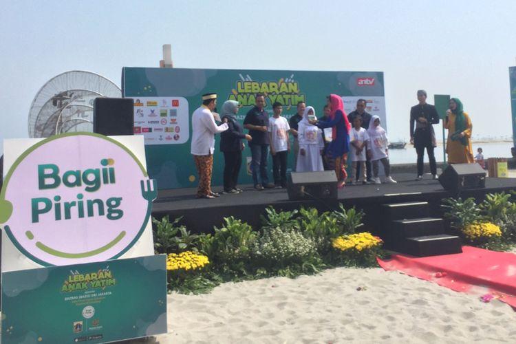 Gubernur DKI Jakarta, Anies Baswedan, di Pantai Ancol, Jakarta Utara, Sabtu (14/9/2019).