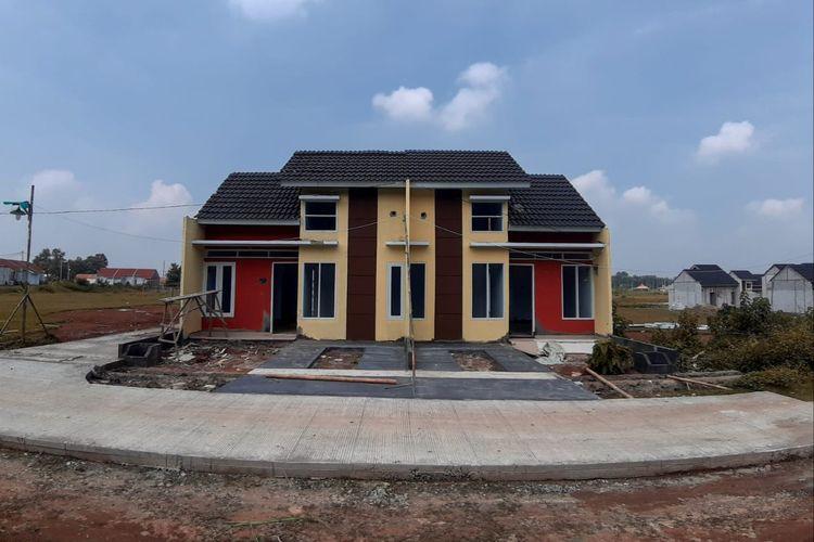 Salah satu tipe rumah di perumahan subsidi Daru Estate, Kabupaten Tangerang.