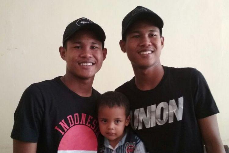 Pemain Tim Nasional U-16 Bagas dan Bagus,melanjutkan pendidikan di Pusat Pendidikan dan Latihan Pelajar (PPLP) Sumatera Utara, Rabu (22/11/2017).