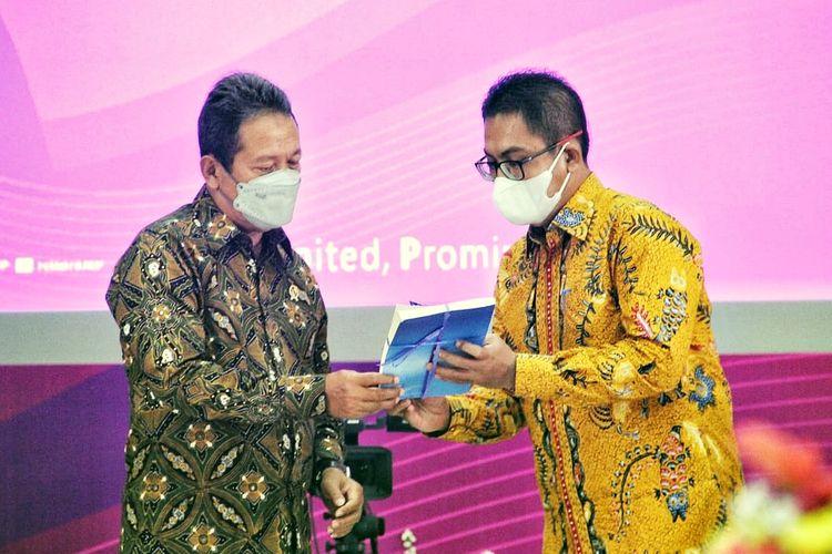 Menteri Kelautan dan Perikanan (Menteri KP) Sakti Wahyu Trenggono dalam acara Dies Natalis ke-59 Politeknik Ahli Usaha Perikanan (AUP), Rabu (15/9/2021).