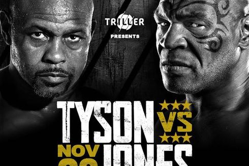Tale of the Tape Mike Tyson Vs Roy Jones Jr, Duel Digelar Siang Ini