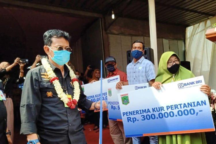 Menteri Pertanian Syahrul Yasin Limpo saat melakukan kunjungan kerja ke Kabupaten Malang, Jawa Timur, Kamis (3/9/2020).
