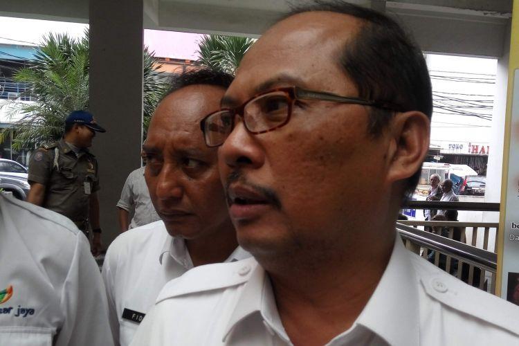 Wali Kota Jakarta Selatan Tri Kurniadi saat di Pasar Melawai, Jakarta Srlatan, Rabu (22/3/2017).