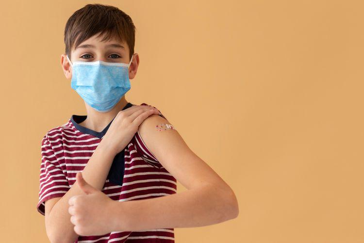 Ilustrasi vaksin Covid-19 untuk anak