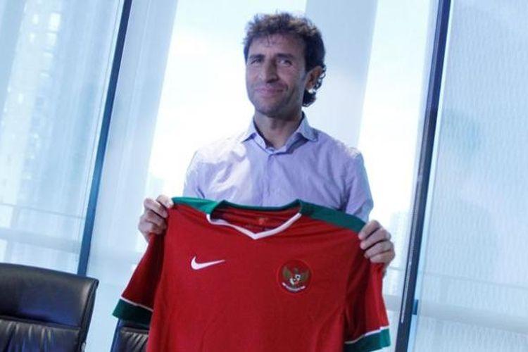 Pelatih tim nasional Indonesia U-22, Luis Milla.