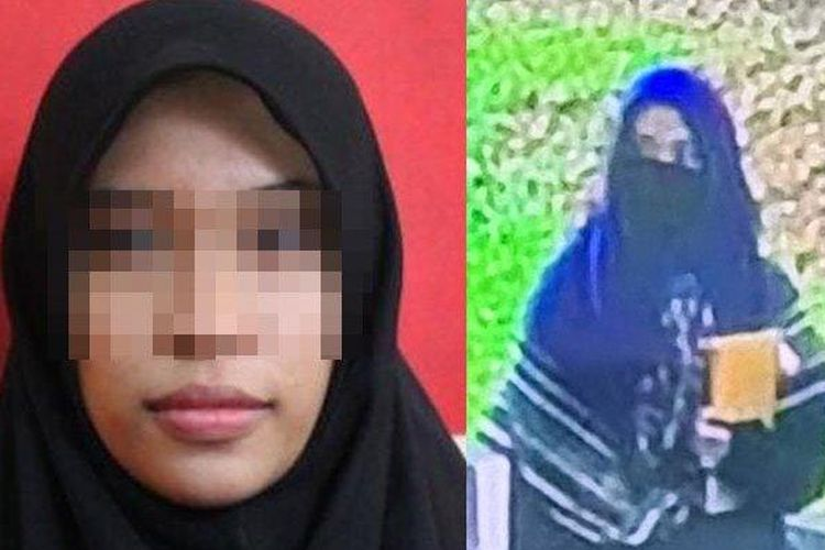 The perpetrator of the attack on the National Police Headquarters, Zakiah Aini.