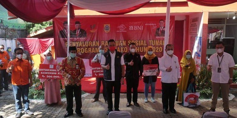 Penyaluran BST di Kabupaten Pemalang, Jumat (20/11/2020).