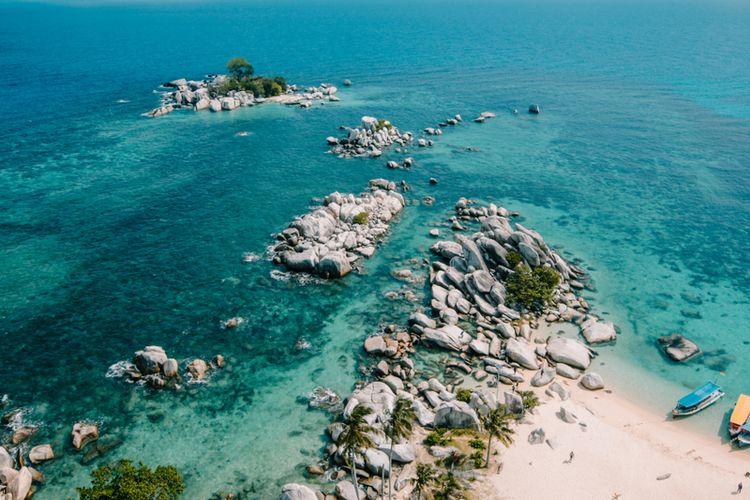 Tanjung Kelayang Beach, Belitung, one of the geo sites that make up Geopark Belitung