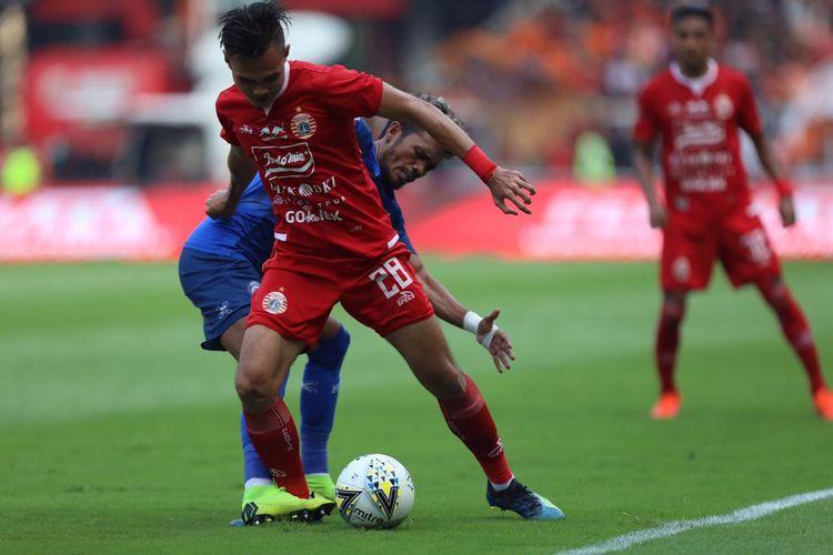 Pertandingan pekan ke-12 Liga 1 2019 antara Persija Jakarta vs Arema FC di Stadion Utama Gelora Bung Karno, Jakarta, Sabtu (3/8/2019).