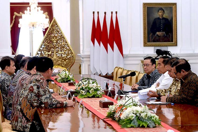 Jajaran delegasi Hyundai bertemu dengan Jokowi bahas soal pabrik sampai produksi mobil di Indonesia.