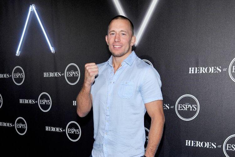 Mantan petarung MMA, Georges St-Pierre, pada Juli 2018.